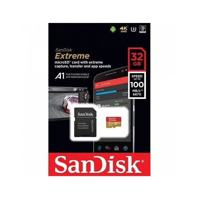 Karta micro EXTREME SDHC SanDisk ULTRA 32GB 100Mb/s