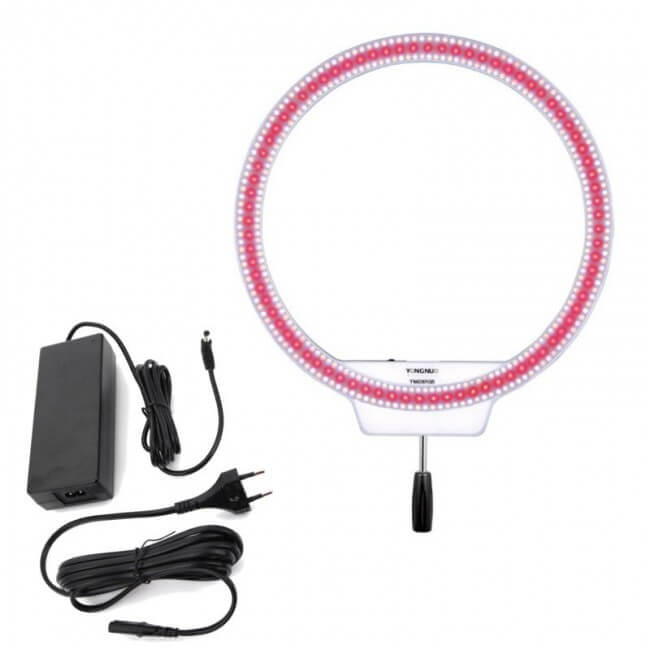 Lampa pierścieniowa LED RING YN-608 5500K-3200K +RGB