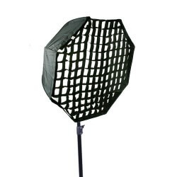 Softbox parasolkowy octagon Mitoya 80cm + grid